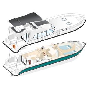 Nicols Quattro Fly C alquiler de barcos habitables sin permiso en ríos y canales de Europa