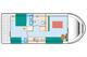 Plan Eau Claire 930 Fly NF location de péniches sans permis sur rivières et canaux de France