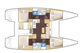 Plan Lagoon 39 Muscat (avec skipper) location de péniches sans permis sur rivières et canaux de France