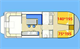 Plan New Concorde 890 Fly Suite location de péniches sans permis sur rivières et canaux de France