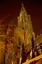 Strasbourg Cathedral. Alsace, accessible on foot from your rental boat