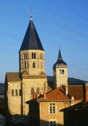 Abbey of Cluny located in Burgundy. The most famous and the largest Romanesque abbey