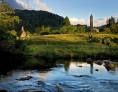 Glendalough, Wicklow, torrent in an Irish landscape. This country really deserves its reference color: emerald green