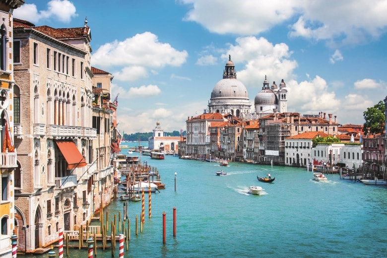 Italy - The grand canal of Venice in Italy