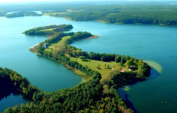 One of the 4,000 lakes set amid the forests of Mazurie in Poland